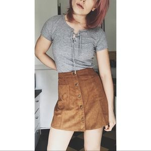 Faux suede 70s skirt.